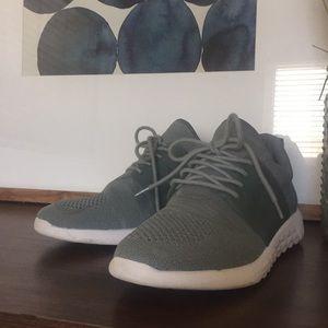 ALDO Lace Up Mint Sage Casual Sneaker Shoe 8.5